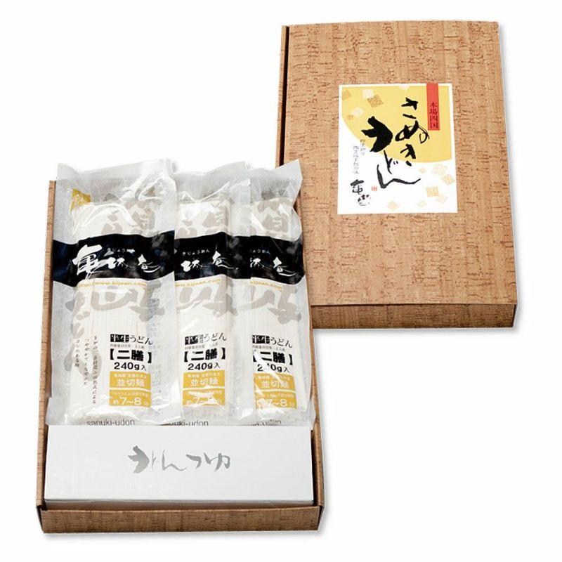 讃岐うどんのギフトセット(並切麺240g×5袋つゆ付)